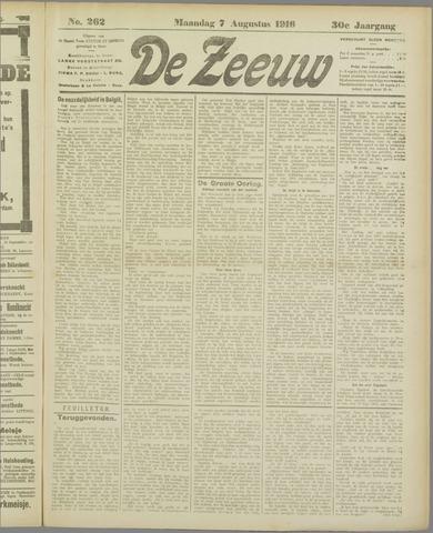 De Zeeuw. Christelijk-historisch nieuwsblad voor Zeeland 1916-08-07