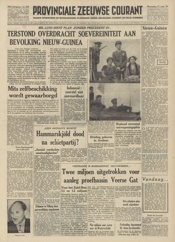 Provinciale Zeeuwse Courant 1961-09-27