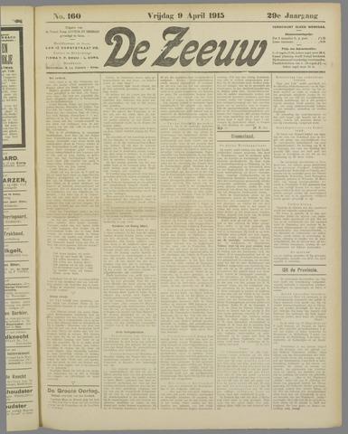 De Zeeuw. Christelijk-historisch nieuwsblad voor Zeeland 1915-04-09