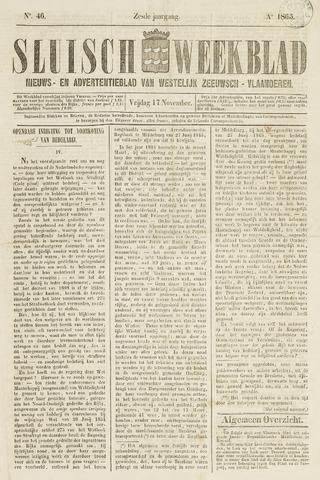 Sluisch Weekblad. Nieuws- en advertentieblad voor Westelijk Zeeuwsch-Vlaanderen 1865-11-17