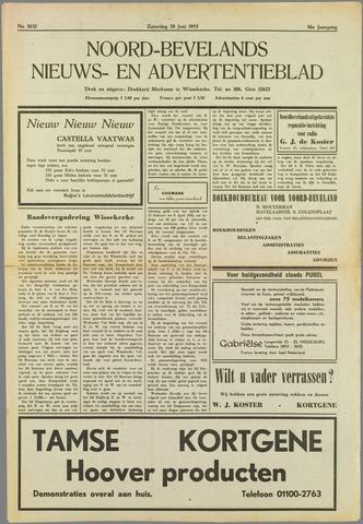 Noord-Bevelands Nieuws- en advertentieblad 1953-06-20