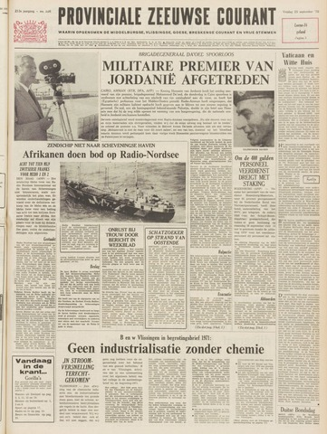 Provinciale Zeeuwse Courant 1970-09-25