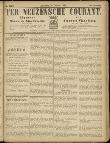 Ter Neuzensche Courant. Algemeen Nieuws- en Advertentieblad voor Zeeuwsch-Vlaanderen / Neuzensche Courant ... (idem) / (Algemeen) nieuws en advertentieblad voor Zeeuwsch-Vlaanderen 1896-10-29