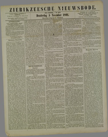 Zierikzeesche Nieuwsbode 1891-11-05