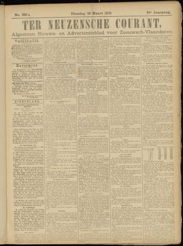 Ter Neuzensche Courant. Algemeen Nieuws- en Advertentieblad voor Zeeuwsch-Vlaanderen / Neuzensche Courant ... (idem) / (Algemeen) nieuws en advertentieblad voor Zeeuwsch-Vlaanderen 1919-03-18