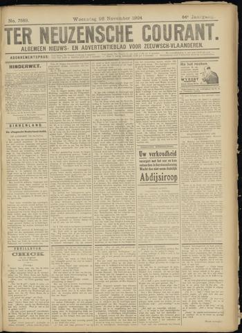 Ter Neuzensche Courant. Algemeen Nieuws- en Advertentieblad voor Zeeuwsch-Vlaanderen / Neuzensche Courant ... (idem) / (Algemeen) nieuws en advertentieblad voor Zeeuwsch-Vlaanderen 1924-11-26
