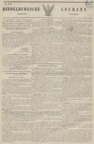 Middelburgsche Courant 1851-12-04