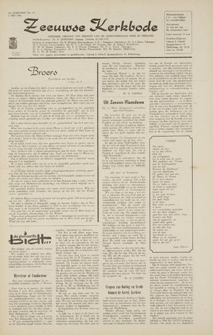 Zeeuwsche kerkbode, weekblad gewijd aan de belangen der gereformeerde kerken/ Zeeuwsch kerkblad 1968-05-02