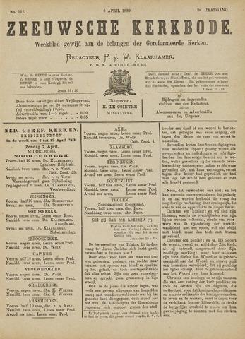 Zeeuwsche kerkbode, weekblad gewijd aan de belangen der gereformeerde kerken/ Zeeuwsch kerkblad 1889-04-06