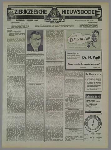 Zierikzeesche Nieuwsbode 1940-03-09