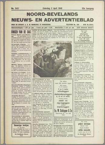 Noord-Bevelands Nieuws- en advertentieblad 1949-04-02