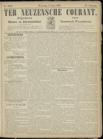 Ter Neuzensche Courant. Algemeen Nieuws- en Advertentieblad voor Zeeuwsch-Vlaanderen / Neuzensche Courant ... (idem) / (Algemeen) nieuws en advertentieblad voor Zeeuwsch-Vlaanderen 1887-06-15