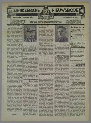 Zierikzeesche Nieuwsbode 1941-02-05