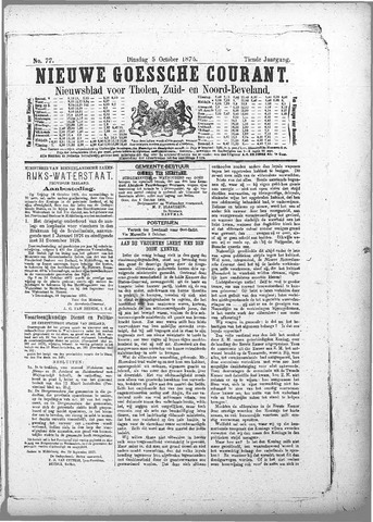Nieuwe Goessche Courant 1875-10-05