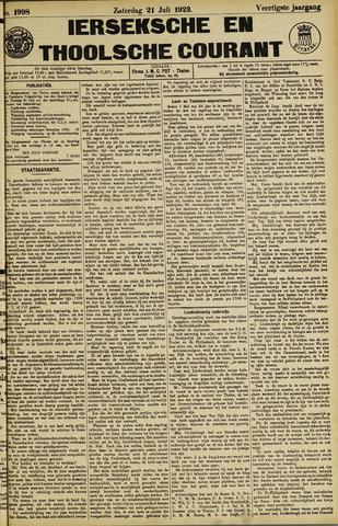 Ierseksche en Thoolsche Courant 1923-07-21