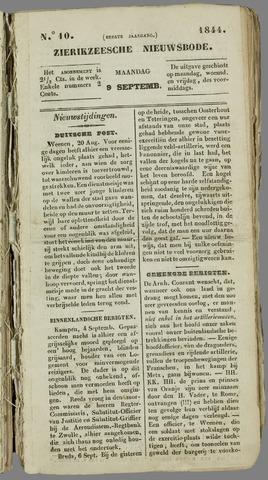 Zierikzeesche Nieuwsbode 1844-09-09