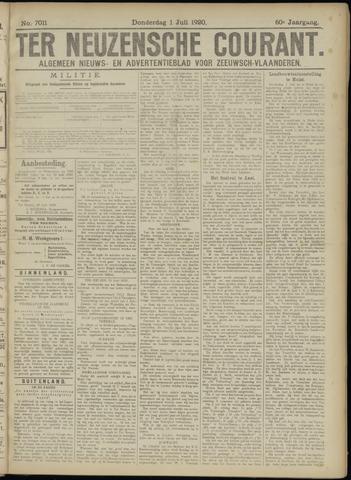 Ter Neuzensche Courant. Algemeen Nieuws- en Advertentieblad voor Zeeuwsch-Vlaanderen / Neuzensche Courant ... (idem) / (Algemeen) nieuws en advertentieblad voor Zeeuwsch-Vlaanderen 1920-07-01