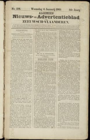 Ter Neuzensche Courant. Algemeen Nieuws- en Advertentieblad voor Zeeuwsch-Vlaanderen / Neuzensche Courant ... (idem) / (Algemeen) nieuws en advertentieblad voor Zeeuwsch-Vlaanderen 1865