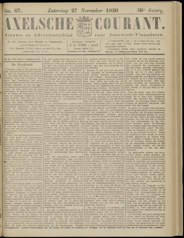 Axelsche Courant 1920-11-27