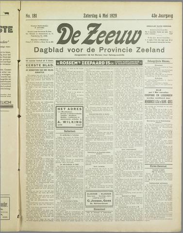 De Zeeuw. Christelijk-historisch nieuwsblad voor Zeeland 1929-05-04