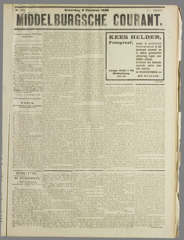 Middelburgsche Courant 1925-10-03
