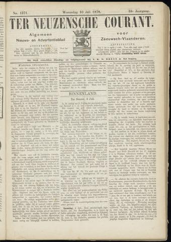 Ter Neuzensche Courant. Algemeen Nieuws- en Advertentieblad voor Zeeuwsch-Vlaanderen / Neuzensche Courant ... (idem) / (Algemeen) nieuws en advertentieblad voor Zeeuwsch-Vlaanderen 1878-07-10