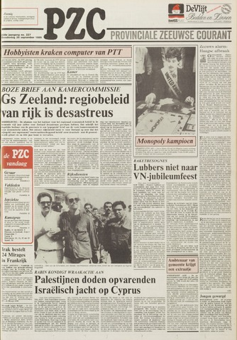 Provinciale Zeeuwse Courant 1985-09-26