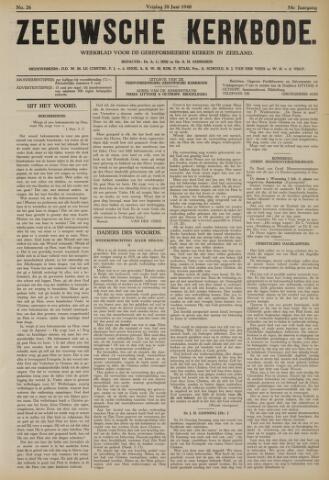 Zeeuwsche kerkbode, weekblad gewijd aan de belangen der gereformeerde kerken/ Zeeuwsch kerkblad 1940-06-28