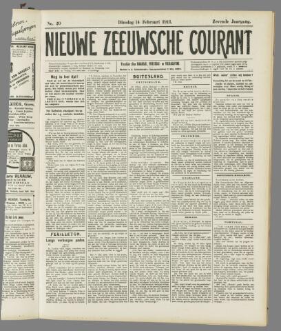 Nieuwe Zeeuwsche Courant 1911-02-14