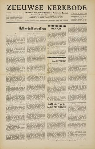 Zeeuwsche kerkbode, weekblad gewijd aan de belangen der gereformeerde kerken/ Zeeuwsch kerkblad 1955-04-29