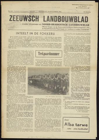 Zeeuwsch landbouwblad ... ZLM land- en tuinbouwblad 1954-09-18