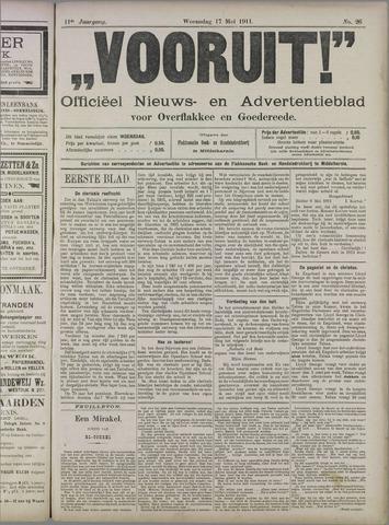 """""""Vooruit!""""Officieel Nieuws- en Advertentieblad voor Overflakkee en Goedereede 1911-05-17"""