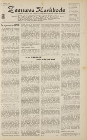Zeeuwsche kerkbode, weekblad gewijd aan de belangen der gereformeerde kerken/ Zeeuwsch kerkblad 1963-01-25