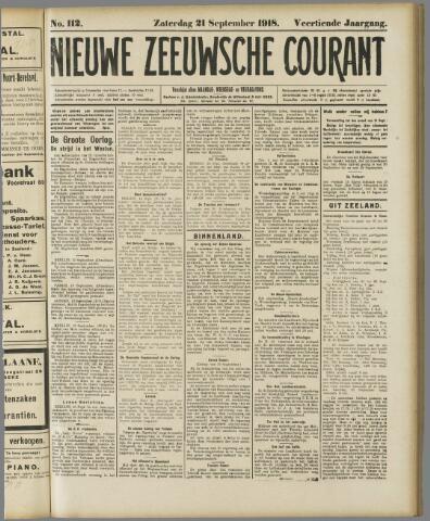 Nieuwe Zeeuwsche Courant 1918-09-21