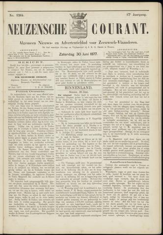 Ter Neuzensche Courant. Algemeen Nieuws- en Advertentieblad voor Zeeuwsch-Vlaanderen / Neuzensche Courant ... (idem) / (Algemeen) nieuws en advertentieblad voor Zeeuwsch-Vlaanderen 1877-06-30