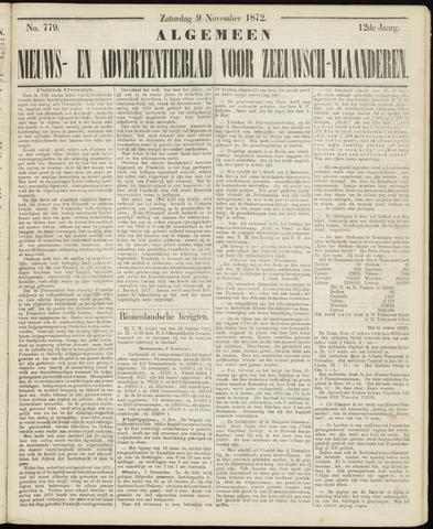 Ter Neuzensche Courant. Algemeen Nieuws- en Advertentieblad voor Zeeuwsch-Vlaanderen / Neuzensche Courant ... (idem) / (Algemeen) nieuws en advertentieblad voor Zeeuwsch-Vlaanderen 1872-11-09