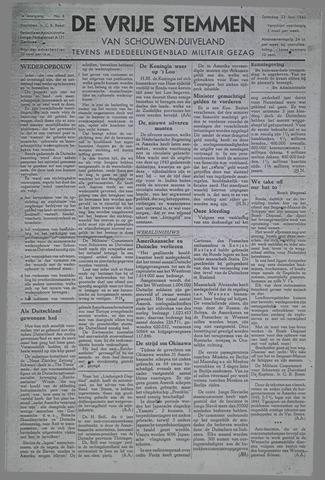 Vrije Stemmen van Schouwen-Duiveland, tevens mededeelingenblad Militair Gezag 1945-06-23