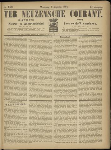 Ter Neuzensche Courant. Algemeen Nieuws- en Advertentieblad voor Zeeuwsch-Vlaanderen / Neuzensche Courant ... (idem) / (Algemeen) nieuws en advertentieblad voor Zeeuwsch-Vlaanderen 1894-08-01