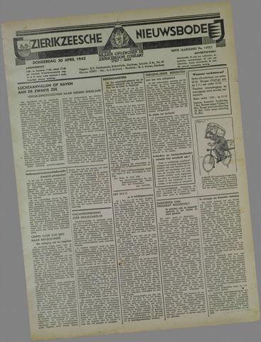 Zierikzeesche Nieuwsbode 1942-04-30