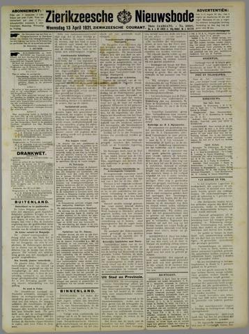 Zierikzeesche Nieuwsbode 1921-04-13