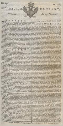 Middelburgsche Courant 1776-11-23