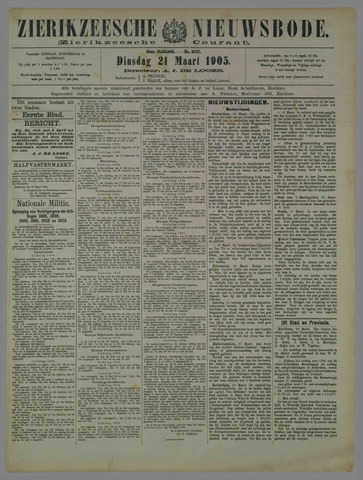Zierikzeesche Nieuwsbode 1905-03-21