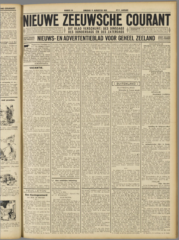 Nieuwe Zeeuwsche Courant 1931-08-11