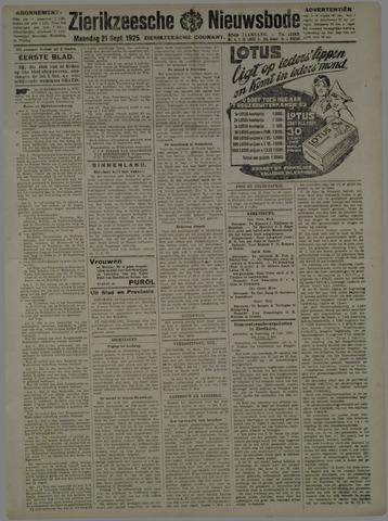 Zierikzeesche Nieuwsbode 1925-09-21
