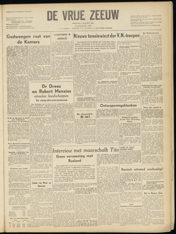 de Vrije Zeeuw 1951-03-02