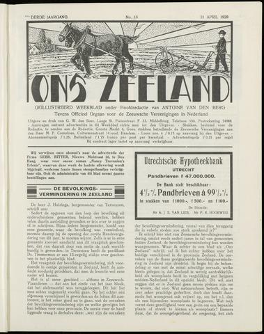 Ons Zeeland / Zeeuwsche editie 1928-04-21