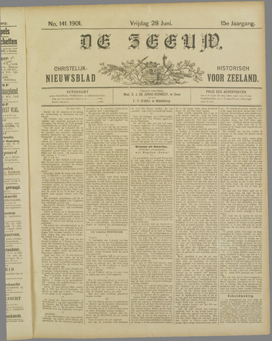 De Zeeuw. Christelijk-historisch nieuwsblad voor Zeeland 1901-06-28