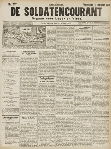 De Soldatencourant. Orgaan voor Leger en Vloot 1916-10-11