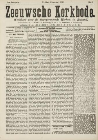 Zeeuwsche kerkbode, weekblad gewijd aan de belangen der gereformeerde kerken/ Zeeuwsch kerkblad 1920-01-30