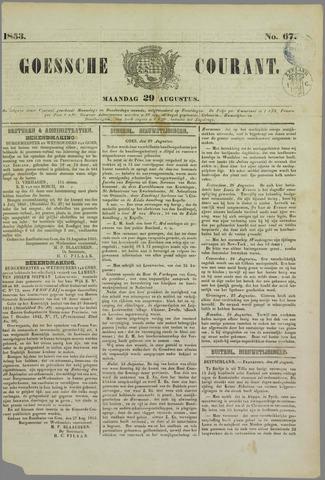 Goessche Courant 1853-08-29